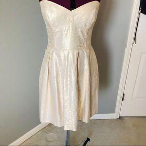 Shoshanna Gold Cocktail Dress